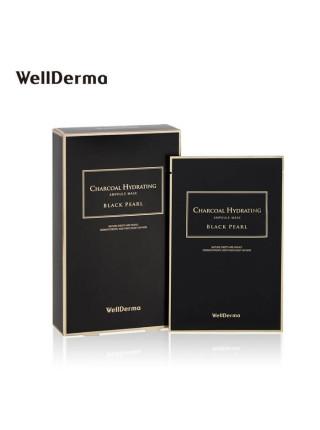 Маска для сияния кожи с чёрным жемчугом WellDerma Charcoal Hydrating Black Pearl Mask