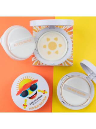 Бесцветный водостойкий солнцезащитный кушон Yu.r Skin Solution Sunny Sun Cushion SPF50+