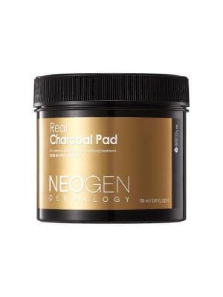 Очищающие пэды с древесным углём Neogen Dermalogy Real Charcoal Pad