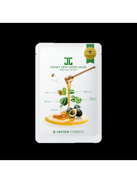 Успокаивающая целлюлозная маска с зеленым комплексом Jayjun Cosmetic Honey Dew Green Mask