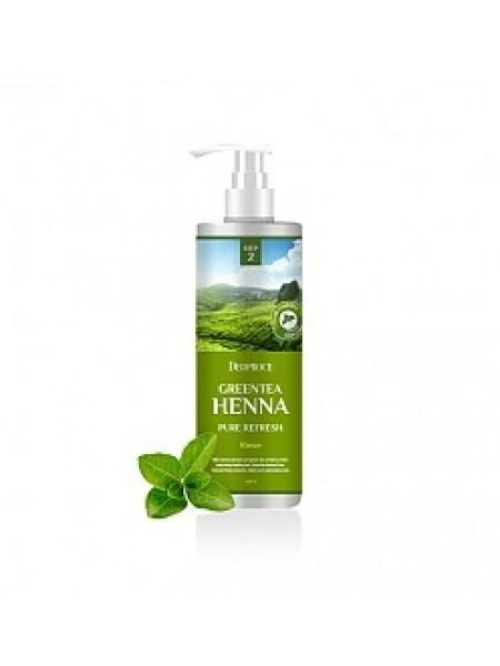 Кондиционер для волос с зеленым чаем и хной Deoproce Greentea Henna Pure Refresh Rinse