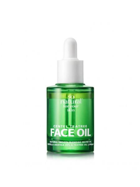 Двухфазное масло для проблемной кожи с чайным деревом So'Natural Centel Teatree Face Oil