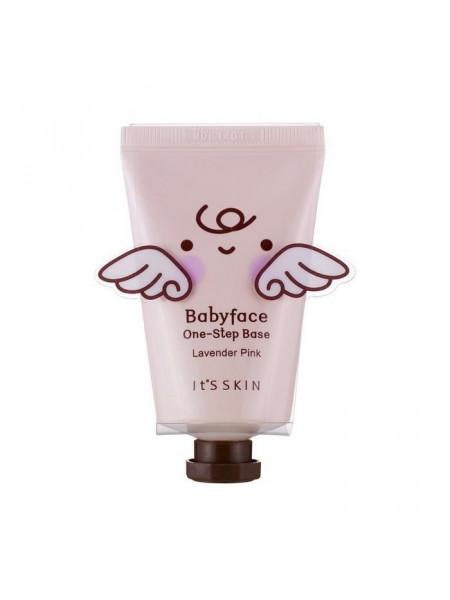 Увлажняющая база под макияж, лавандовая Babyface One-Step Base 01 Lavender Pink