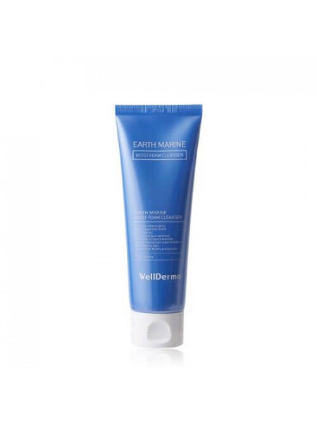 Пенка для умывания с морскими минералами WellDerma Earth Marine Moist Foam Cleanser