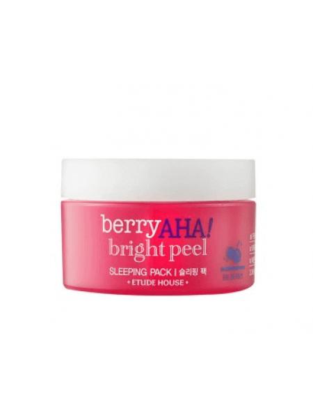 Ночная маска для сияния кожи с AHA-кислотами Etude House Berry AHA Bright Peel Sleeping Pack