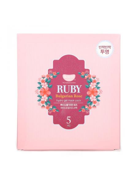 Набор гидрогелевых масок для лица c экстрактом болгарской розы Ruby Bulgarian Rose Hydro Gel Mask Pack 5pcs