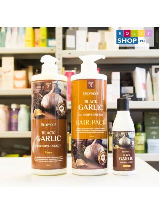 Восстанавливающая маска для волос Deoproce Black Garlic Intensive Energy Hair Pack