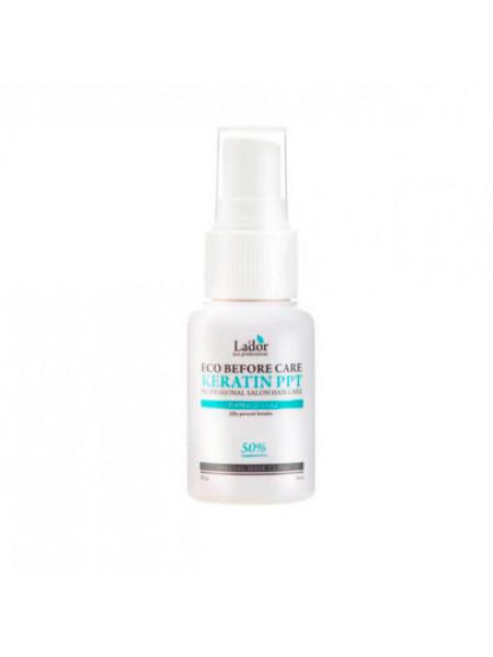 Восстанавливающий кератиновый спрей для волос Lador Before Keratin PPT