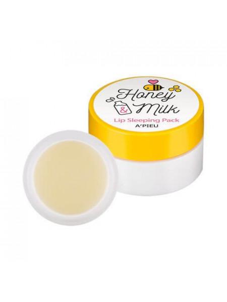 Ночная маска для губ с медом A'Pieu Honey & Milk Lip Sleeping Pack