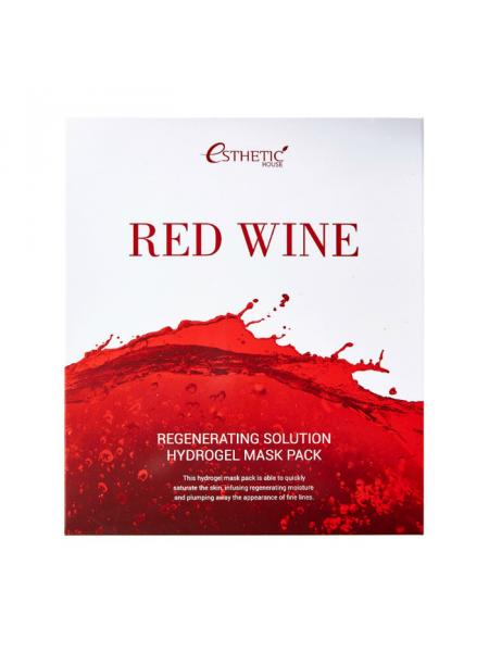 Набор гидрогелевых масок для лица с красным вином Red Wine Regenerating Solution Hydrogel Mask Pack