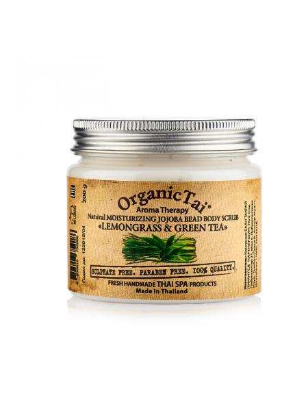 Скраб для тела с гранулами жожоба и маслами лемонграсса и зеленого чая Aroma Therapy Natural Moisturizing Jojoba Bead Body Scrub Lemongrass & Green Tea