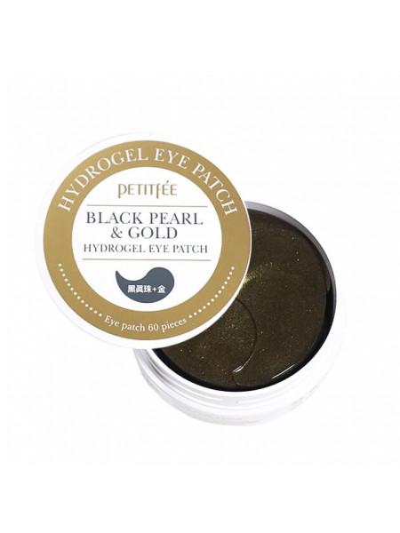 Гидро-гелевые патчи для век с чёрным жемчугом Petitfee Black Pearl & Gold Hydrogel Eye Patch