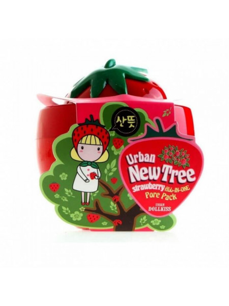 Очищающая маска-скраб для сужения пор Baviphat Urban Dollkiss New Tree Strawberry All-in-One Pore Pack