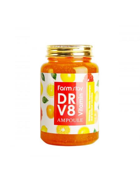 Многофункциональная ампульная сыворотка с витаминным комплексом Farmstay DR-V8 Vitamin Ampoule