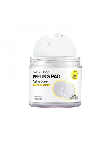 Очищающие пилинг-спонжи с АНА кислотами Scinic Feel So Good Peeling Pad