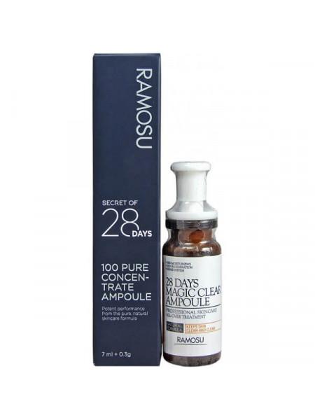 Ампульная сыворотка против тусклости кожи лица с витамином C Ramosu 28 Days Magic Clear Ampoule