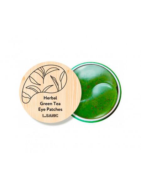 Гидрогелевые патчи с экстрактом зеленого чая L'SANIC Herbal Green Tea Hydrogel Eye Patches