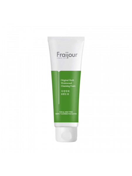 Очищающая пенка с полынью для проблемной кожи Fraijour Original Herb Wormwood Cleansing Foam