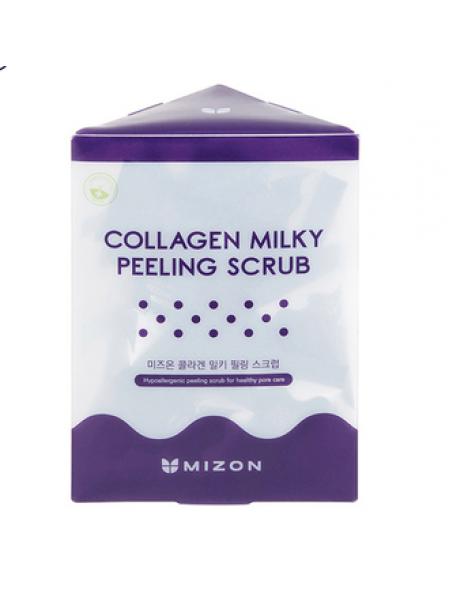 Набор скрабов в пирамидках Mizon Collagen Milky Peeling Scrub