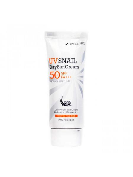 Ежедневный солнцезащитный крем с муцином улитки 3W CLINIC UV Snail Day Sun Cream SPF50+/PA+++