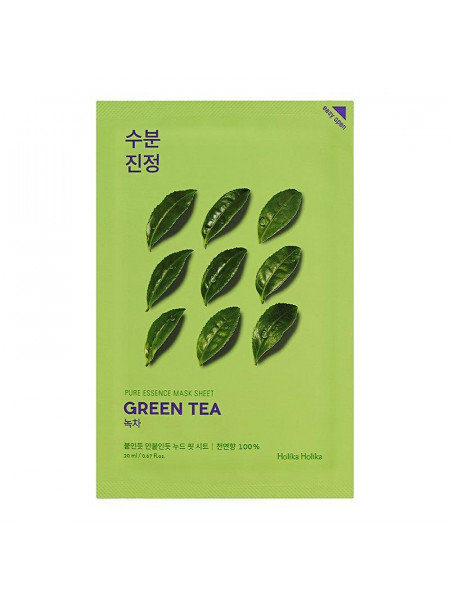 Противовоспалительная тканевая маска Pure Essence Mask Sheet Green Tea, зеленый чай