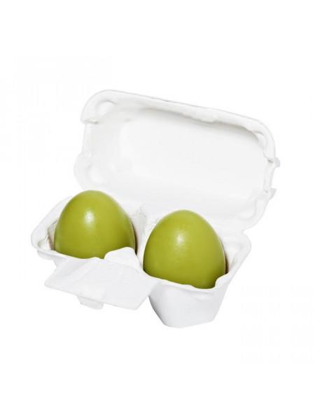Мыло-маска ручной работы с зеленым чаем Egg Soap Green Tea (50g*2)