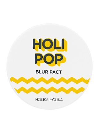 Пудра для лица, натуральный бежевый Holi Pop Blur pact 02 natural beige