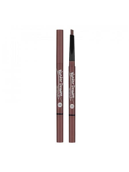 Карандаш для бровей, красно-коричневый Wonder Drawing 24hr Auto Eyebrow 04 Red Brown