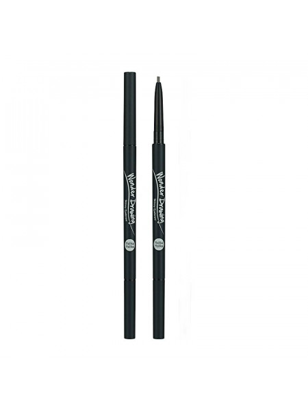 Карандаш для бровей Wonder Drawing Skinny Eye Brow 01 Ash Black, черная зола
