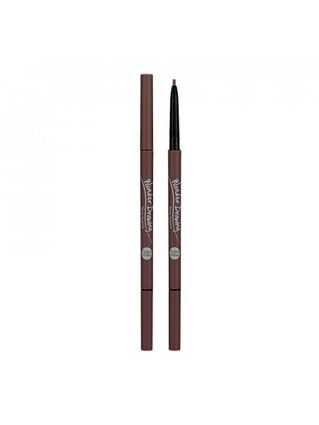Карандаш для бровей Wonder Drawing Skinny Eye Brow 04 Red Brown, красно-коричневый